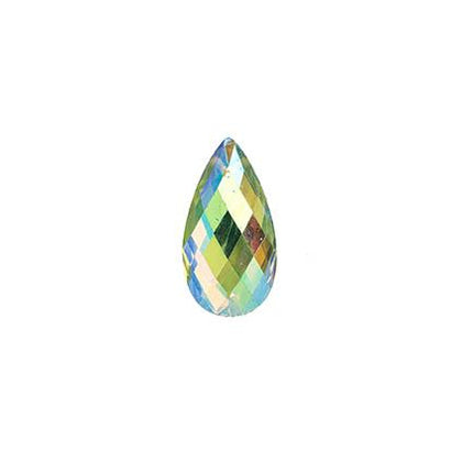 Lime Green AB 11x18mm Tear Drop Sew On Stone 20/pk