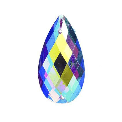 Purple AB 16x30mm Tear Drop Sew On Stone #9026-11 10/pk