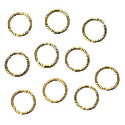 6mm Gold Jump Rings 20 Grams