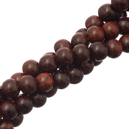 6mm Red Sandalwood Beads 108/Strand