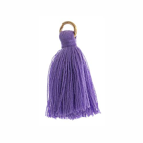 "1"" Purple Poly Cotton Tassels with Jump Ring 10/pk"