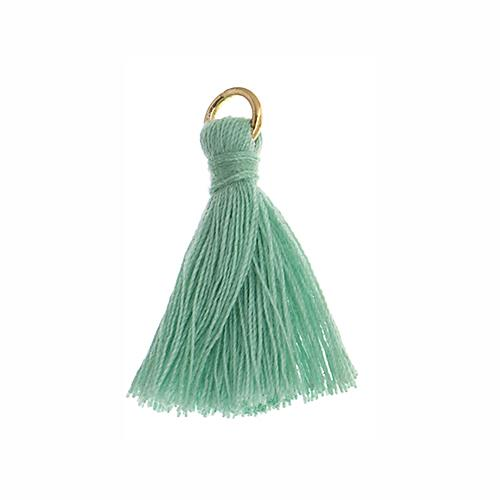 "1"" Turquoise Poly Cotton Tassels with Jump Ring 10/pk"