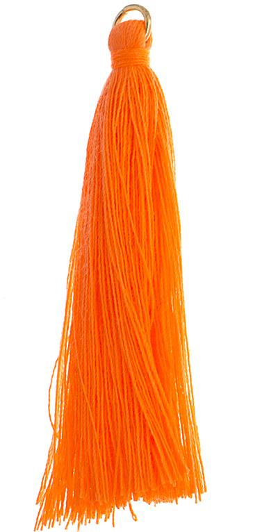 "2.25"" Orange Poly Cotton Tassels with Jump Ring 10/pk"