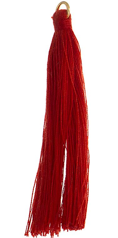 "2.25"" Red Poly Cotton Tassels with Jump Ring 10/pk"