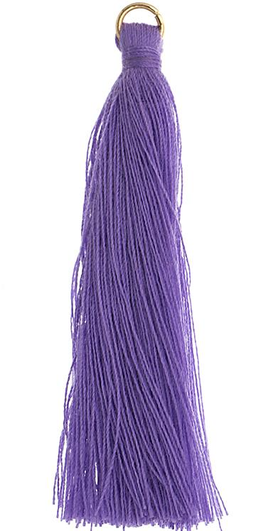 "2.25"" Purple Poly Cotton Tassels with Jump Ring 10/pk"