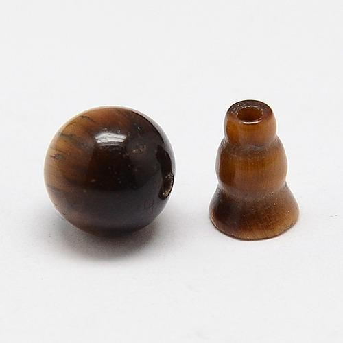 10mm Tiger Eye (Natural) Guru Beads 2 Sets/Pk