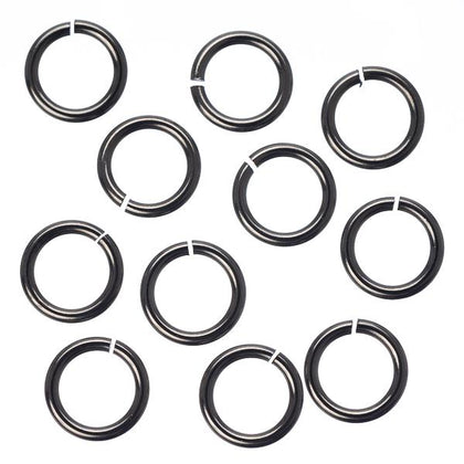 7mm Gunmetal Jump Rings 25/pk