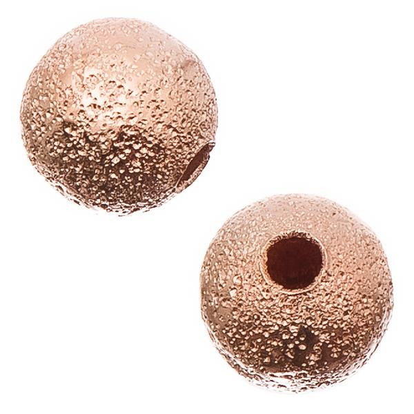 Rose Gold Stardust 6mm Metal Bead 50/pk