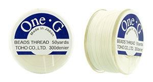 White One-G Beading Thread 50yd.