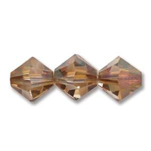 4mm Swarovski Bicone Copper Crystal