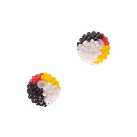 10mm Round 4-Directions Beaded Bead 2/pk