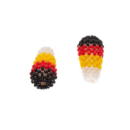 10x18mm Drop 4-Directions Beaded Bead 2/pk