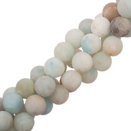 10mm Amazonite Matte Gemstone Beads 15-16