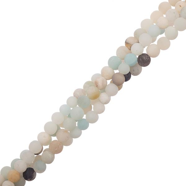 "4mm Amazonite Matte (Natural) Beads 15-16"" Strand"