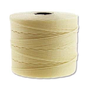 .4mm Pale Yellow S-Lon Fine Bead Cord 118yd Spool