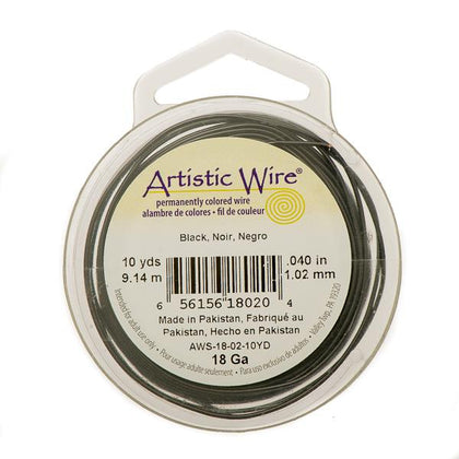 18g Artistic Wire Black 10yd