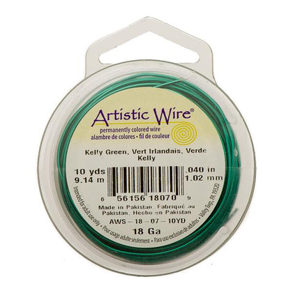 18g Artistic Wire Kelly Green 10yd