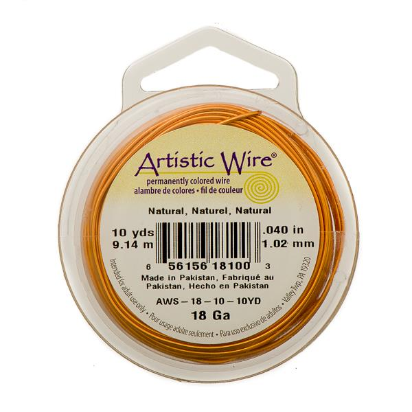 18g Artistic Wire Natural Copper 10yd