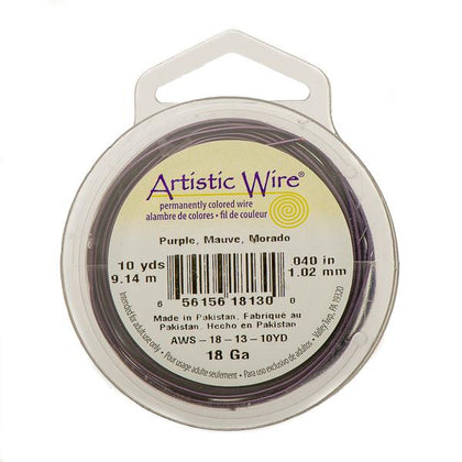 18g Artistic Wire Purple 10yd