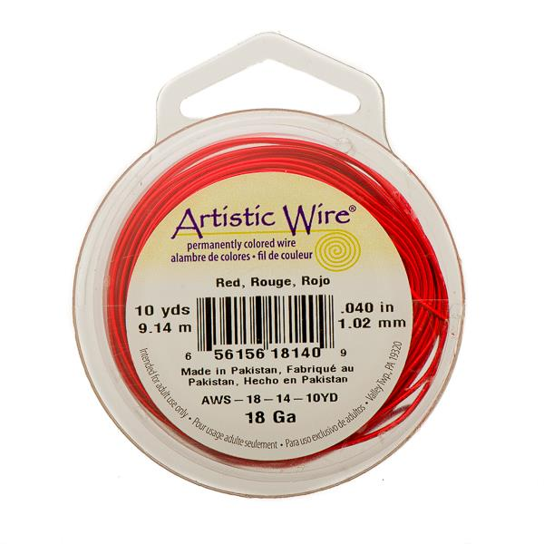 18g Artistic Wire Red 10yd