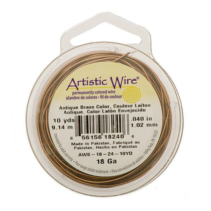 18g Artistic Wire Antique Brass 10yd