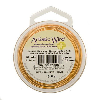 18g Artistic Wire Non-Tarnish Brass 10yd