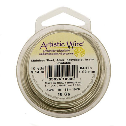18g Artistic Wire Stainless Steel 10yd