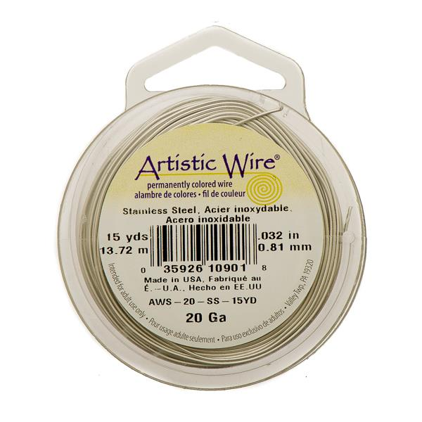 20g Artistic Wire Stainless Steel 15yd