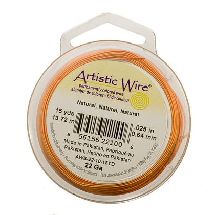 22g Artistic Wire Natural Copper 15yd