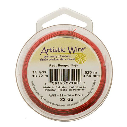 22g Artistic Wire Red 15yd
