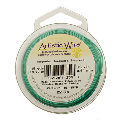 22g Artistic Wire Turquoise 15yd