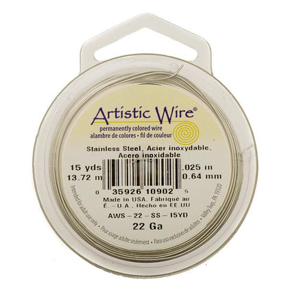 22g Artistic Wire Stainless Steel 15yd