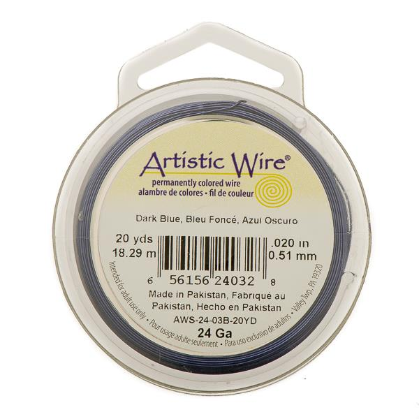24g Artistic Wire Dark Blue 20yd