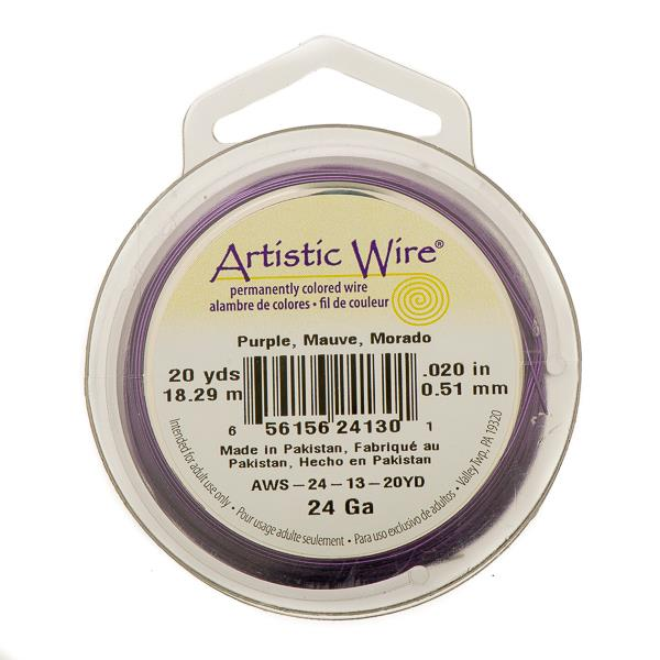 24g Artistic Wire Purple 20yd