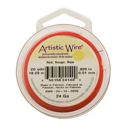 24g Artistic Wire Red 20yd