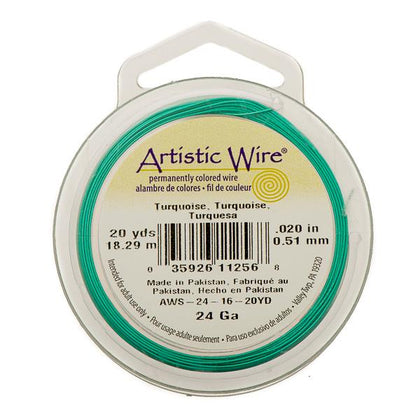 24g Artistic Wire Turquoise 20yd