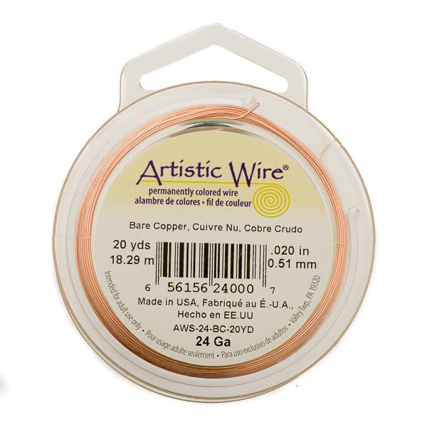 24g Artistic Wire Bare Copper 20yd