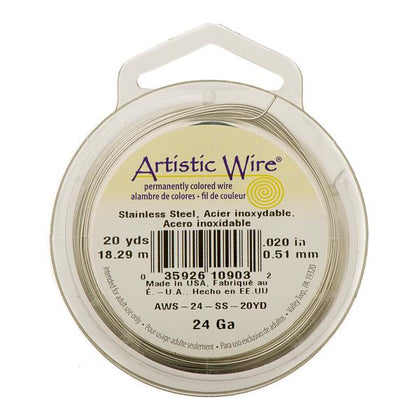 24g Artistic Wire Stainless Steel 20yd