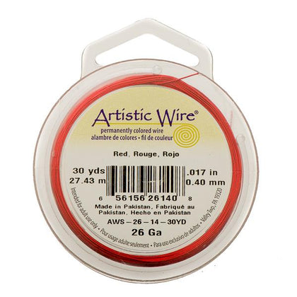 26g Artistic Wire Red 30yd