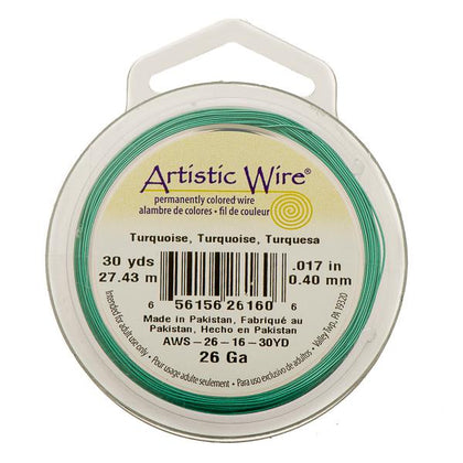 26g Artistic Wire Turquoise 30yd