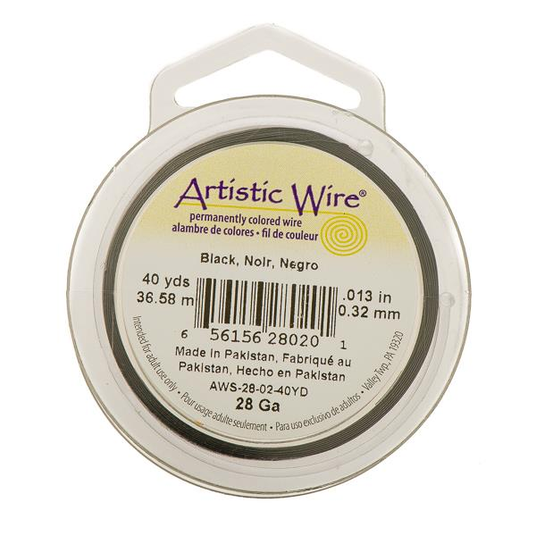 28g Artistic Wire Black 40yd