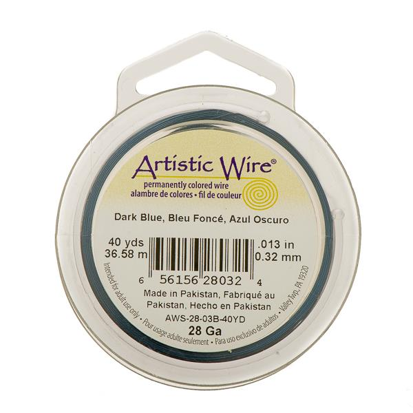 28g Artistic Wire Dark Blue 40yd