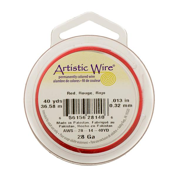 28g Artistic Wire Red 40yd