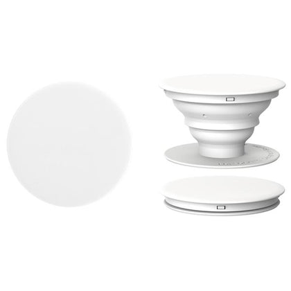 Pop Socket Style Mobile Phone Grip and Stand, White 1/pk