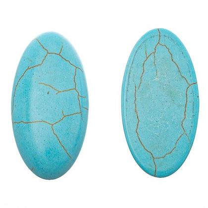 15x30mm Turquoise Oval Gemstone Cabochons 2/pk