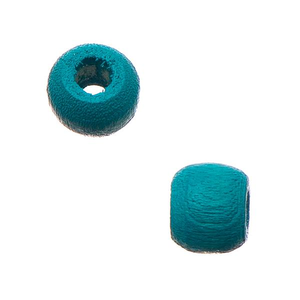 6mm Turquoise Wood Mini Pony Beads 50/pk