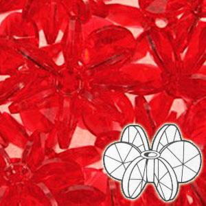 25mm Plastic Sunburst Beads 160/pk - Ruby
