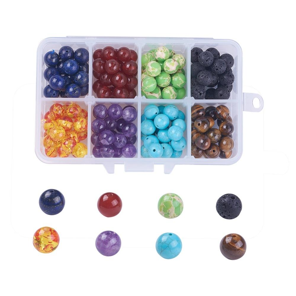 8mm Chakra Gemstone Beads Kit 160/Box