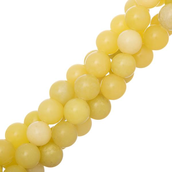"10mm Jade Lemon (Natural) Beads 15-16"" Strand"
