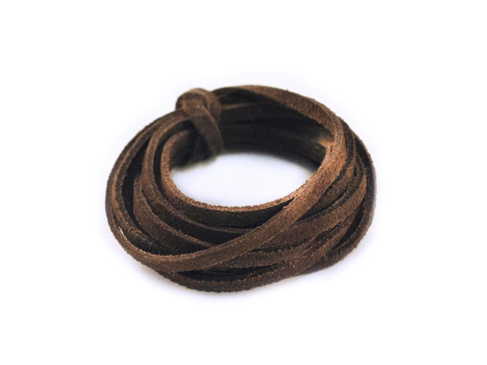 3mm Suede Lace Dark Brown 2m